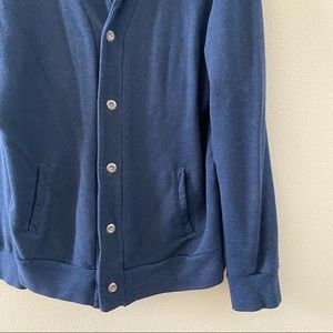 Iron & Resin Men's Blue Cardigan Sweater XXL